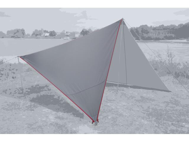 Bent Canvas Plain Bâche de toit Simple, high rise/zipper red